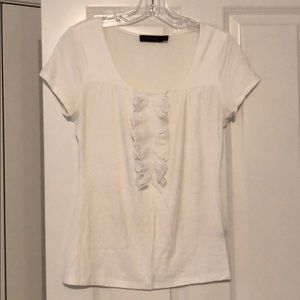 Limited embellished white tee